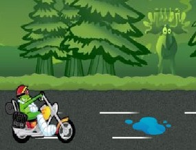Motorcycle-game-with-a-frog
