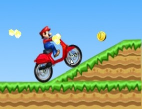 Motorcycle-game-with-mario-bross