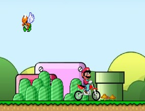 Motorcycle-game-with-mario