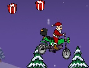 Motorcycle-game-with-santa-claus
