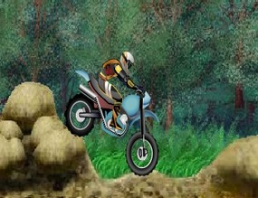 Obstacles-in-the-forest-on-a-motorcycle