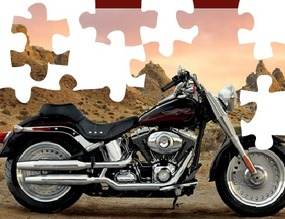 Puzzle-with-a-harley-davidson