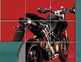 Puzzle-with-a-motorcycle