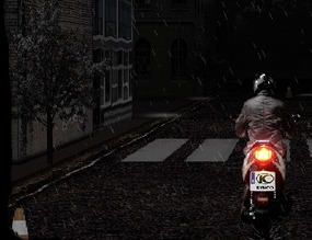 Scooter-in-the-rain
