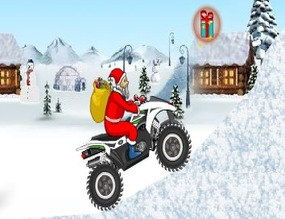 Snowmobile-game-with-santa-claus